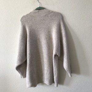 Zara Knit chunky knit sweater medium